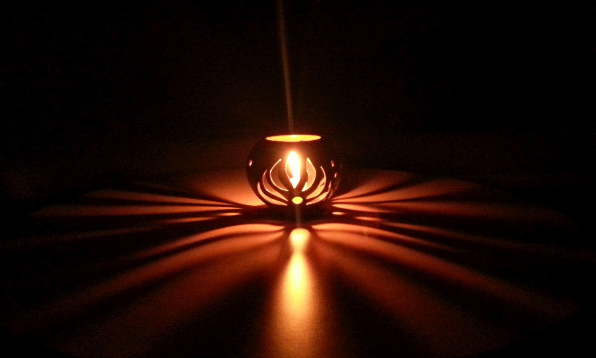 Kerze, Keramik, Lampe
