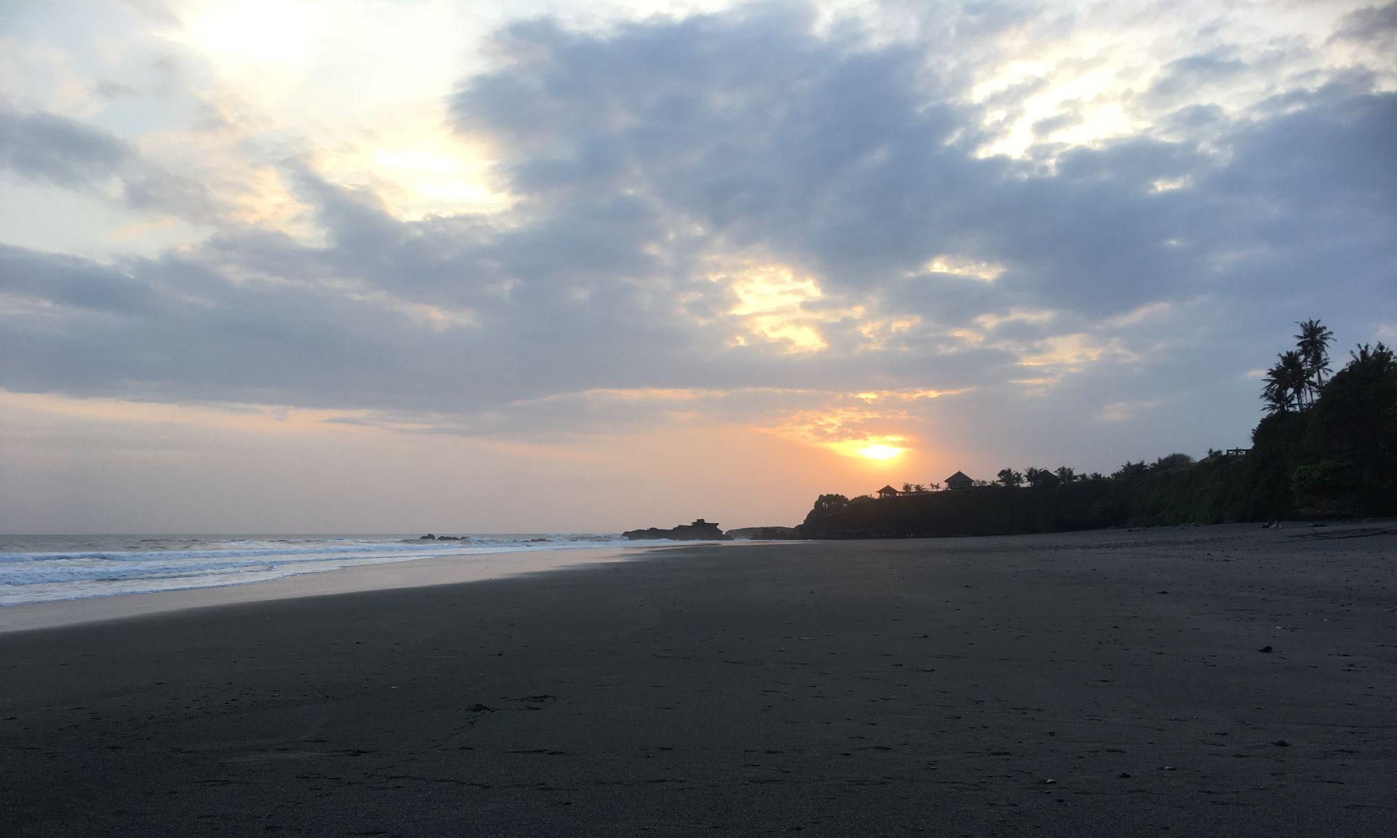 Sonnenuntergang am Balian Beach