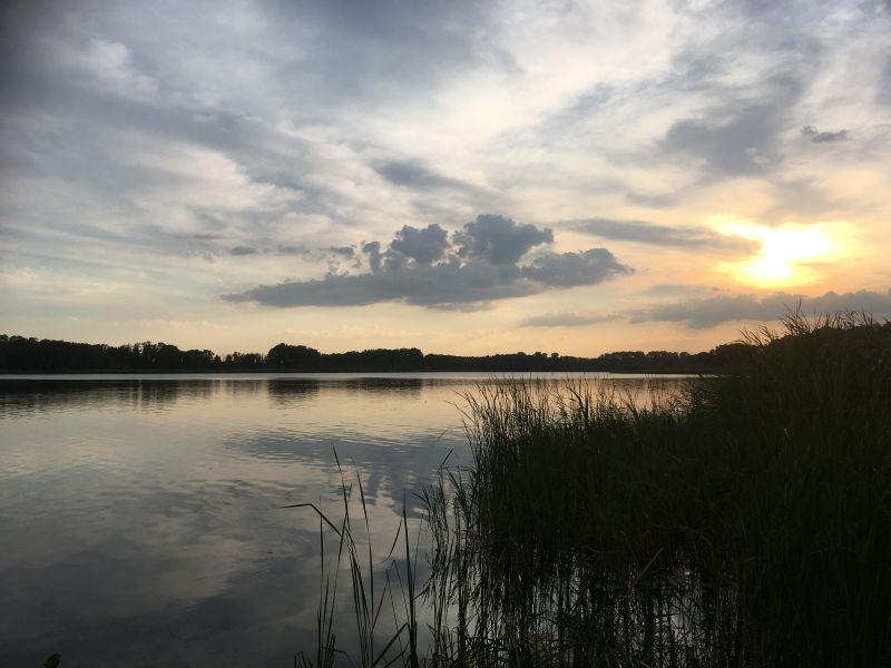 Sonnenuntergang am Großen Plessower See