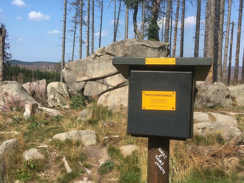 Stempelkasten Harzer Wandernadel Ferdinandstein