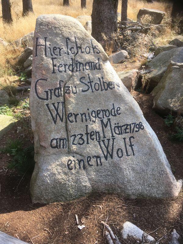 Inschrift am Ferdinandsstein