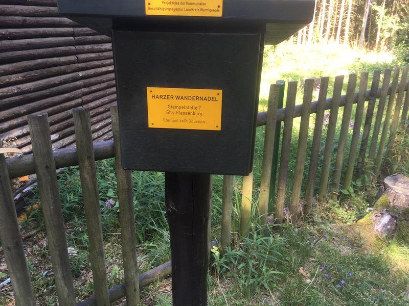 Stempelkasten Harzer Wandernadel Forsthaus Plessenburg