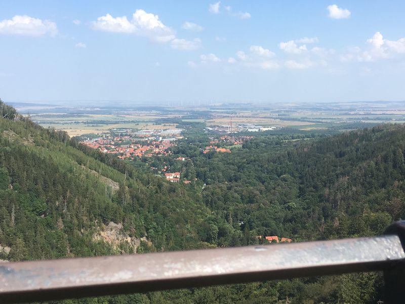 Blick auf Ilsenburg vpm Ilsestein