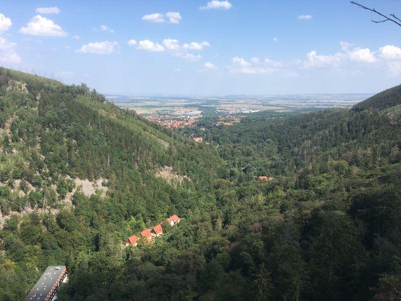 Blick auf Ilsenburg vom Ilsestein