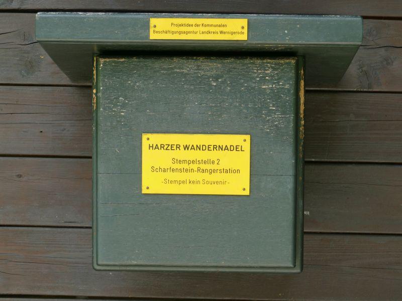 Rangerstation Scharfenstein - Stempelkasten
