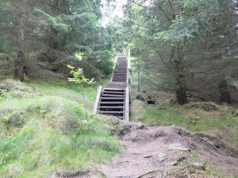 Treppe zum Scharfenstein