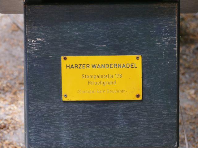 Bodetal - Stempelstelle Hirschgrund