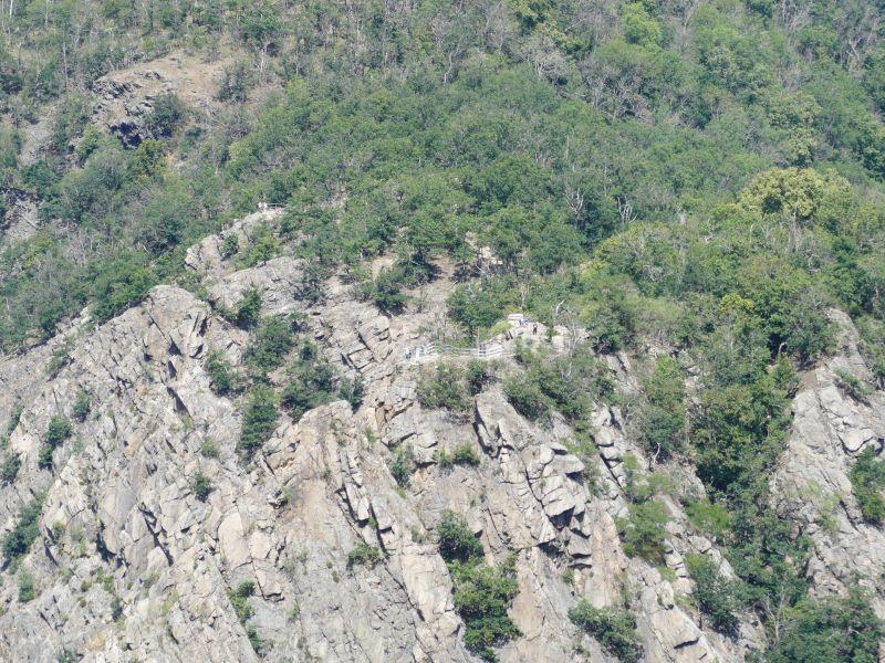 La Viershöhe - Blick auf Rosstrappe