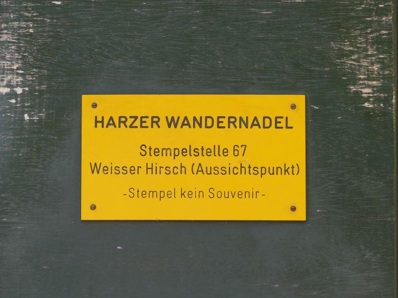 Stempelstelle Weißer Hirsch